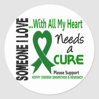 Kidney Disease Needs A Cure 3 Classic Round Sticker