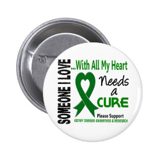 Kidney Disease Needs A Cure 3 Pinback Button