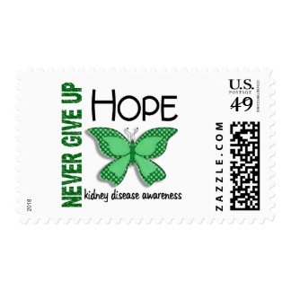 Kidney Disease Never Give Up Hope Butterfly 4.1 Stamp