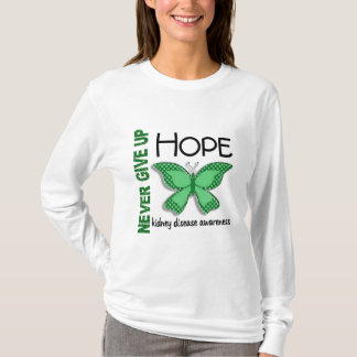 Kidney Disease Never Give Up Hope Butterfly 4.1 T-Shirt