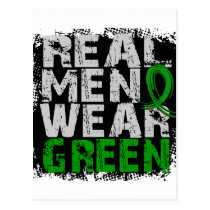 Kidney Disease Real Men Wear Green Postcard