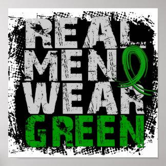 Kidney Disease Real Men Wear Green Poster