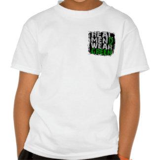 Kidney Disease Real Men Wear Green T-shirt