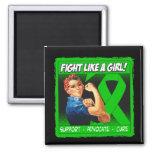 Kidney Disease Rosie Riveter - Fight Like a Girl Magnets