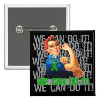 Kidney Disease Rosie WE CAN DO IT Pinback Buttons