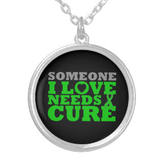Kidney Disease Someone I Love Needs A Cure Round Pendant Necklace
