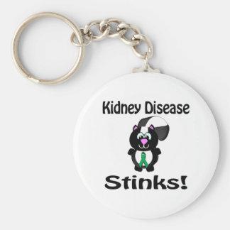 Kidney Disease Stinks Skunk Awareness Design Basic Round Button Keychain