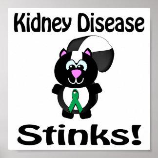 Kidney Disease Stinks Skunk Awareness Design Poster