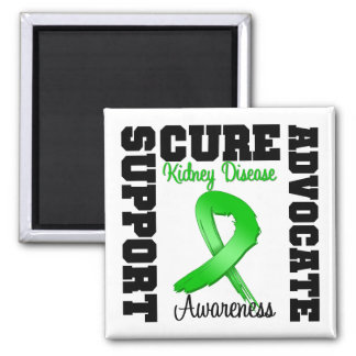 Kidney Disease Support Advocate Cure 2 Inch Square Magnet