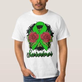 Kidney Disease Survivor Rose Grunge Tattoo Shirt