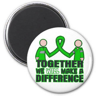 Kidney Disease Together We Will Make A Difference. 2 Inch Round Magnet