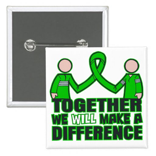 Kidney Disease Together We Will Make A Difference. Pinback Buttons