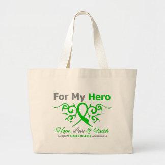 Kidney Disease Tribal Ribbon Hero Bag