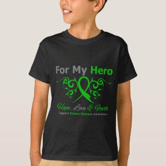 Kidney Disease Tribal Ribbon Hero T-Shirt
