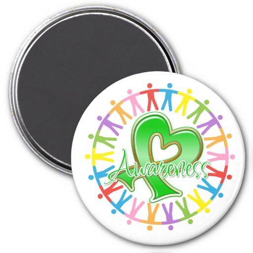Kidney Disease Unite in Awareness 3 Inch Round Magnet
