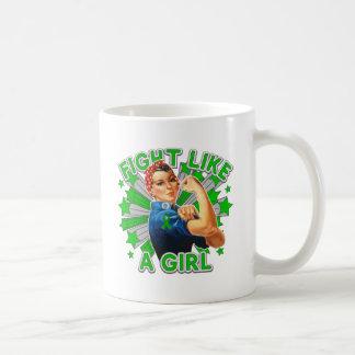 Kidney Disease Vintage Rosie Fight Like A Girl Classic White Coffee Mug
