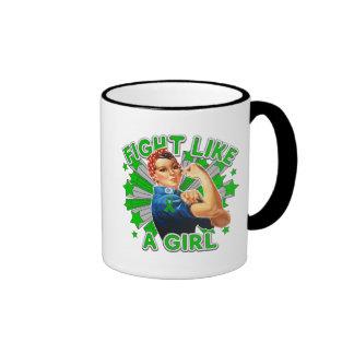 Kidney Disease Vintage Rosie Fight Like A Girl Ringer Coffee Mug