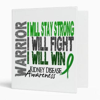 Kidney Disease Warrior 3 Ring Binder