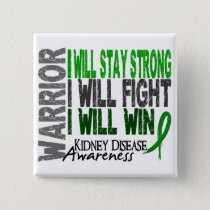 Kidney Disease Warrior Button