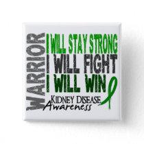 Kidney Disease Warrior Button