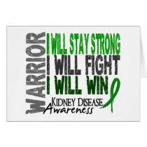 Kidney Disease Warrior Card
