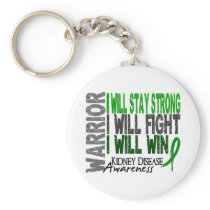 Kidney Disease Warrior Keychain