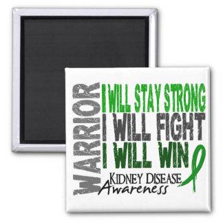 Kidney Disease Warrior 2 Inch Square Magnet