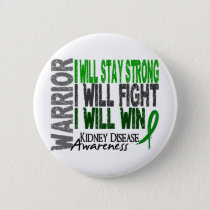 Kidney Disease Warrior Pinback Button