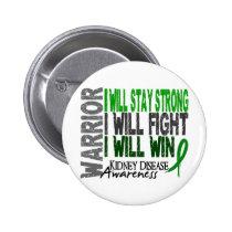 Kidney Disease Warrior Pinback Button