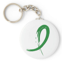 Kidney Disease's Green Ribbon A4 Keychain
