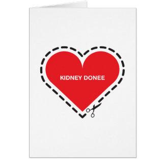 Kidney Donee 'Get well soon' Card