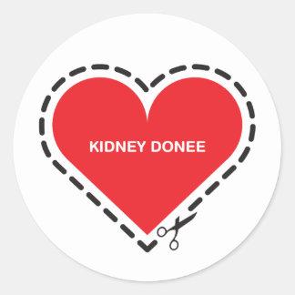 Kidney Donee Sticker