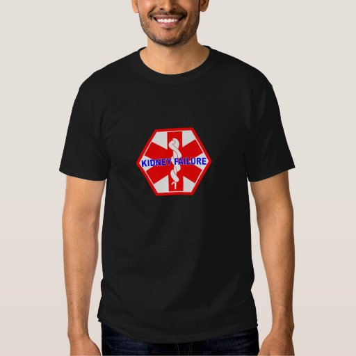 KIDNEY FAILURE MEDICAL ID TAG T-SHIRT