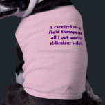 """Kidney Kitty Cat Shirt -- &quot;I received sub-q...<br><div class=""""desc"""">Stops leaks after subcutaneous fluid therapy. If you give your cat subcutaneous (sub-q) fluid therapy, this shirt will help sop up any leaking fluids from the injection point. Buy a size up for your kitty, so it&#39;ll loosely fit over kitty&#39;s fluid bulge without pressure. Try sticking a few tissues under...</div>"""