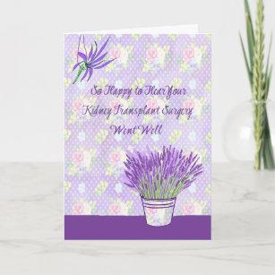 Kidney transplant cards zazzle kidney transplant surgery card in lavender m4hsunfo