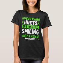 Kidneys Disease Awareness Green Ribbon Warrior T-Shirt