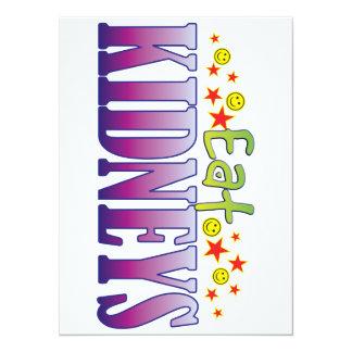 Kidneys Eat 5.5x7.5 Paper Invitation Card