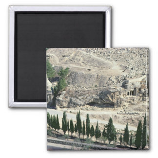 Kidron Valley at the foot of the Mount of Olives 2 Inch Square Magnet