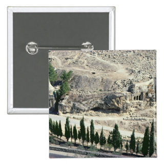 Kidron Valley at the foot of the Mount of Olives Button