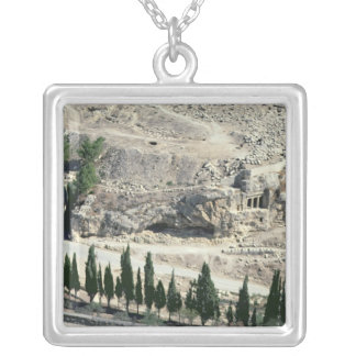 Kidron Valley at the foot of the Mount of Olives Silver Plated Necklace