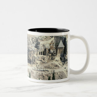 Kidron Valley at the foot of the Mount of Olives Two-Tone Coffee Mug