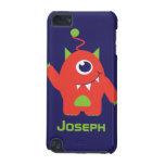 Kids 1 eyed alien orange & blue named ipod case