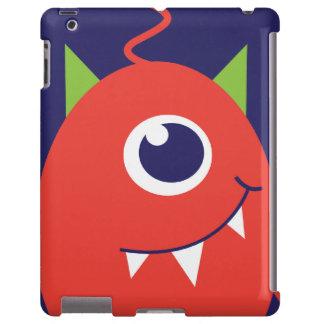 Kids 1 eyed alien orange ipad case