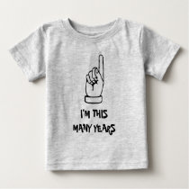 Kids 1st Birthday t shirt with one year old