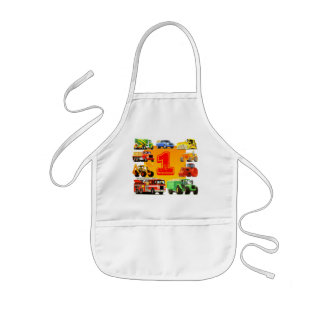 Kid's 1st Birthday Trucks Kids' Apron