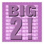 Kids 2nd Birthday Two Year Old Modern Square Custom Announcements