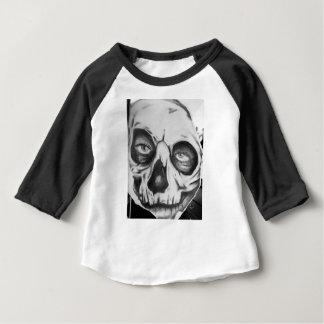 Kids 3/4 sleeve retro  Smiling eyes skull Baby T-Shirt