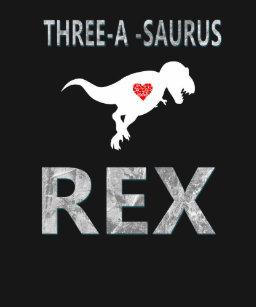 Kids 3 Year Old Birthday Dinosaur Gift T Shirt