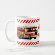 Kid's 3rd Birthday Custom Age Fire Truck Coffee Mug