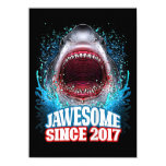 Kids 3rd Birthday Gift Jawesome Since 2017 Shark Invitation